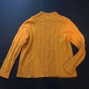 VERO MODA Mustard mock turtleneck sweater